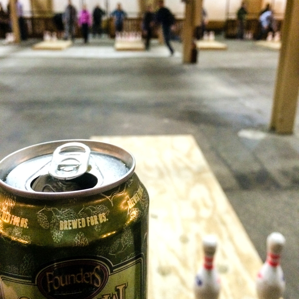 The view from behind my lane at the Fowling Warehouse. (Erin Klema/The Epicurean Traveler)