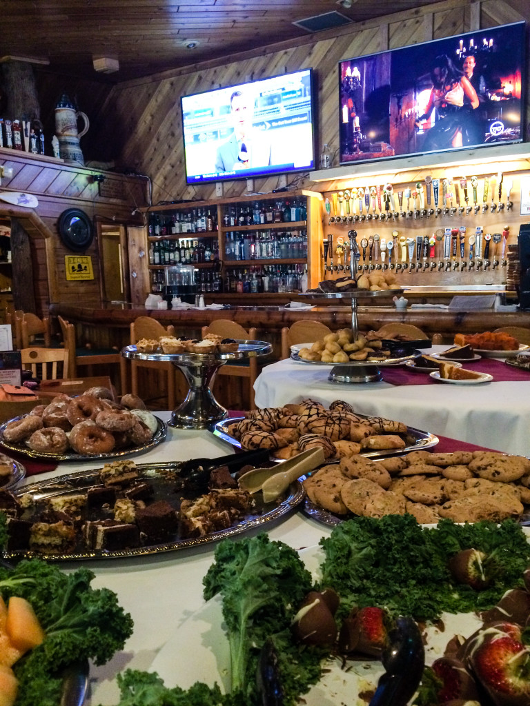 Holy desserts! Also, do you see those two full rows of tap handles? There are 52! (Photo by Erin Klema)