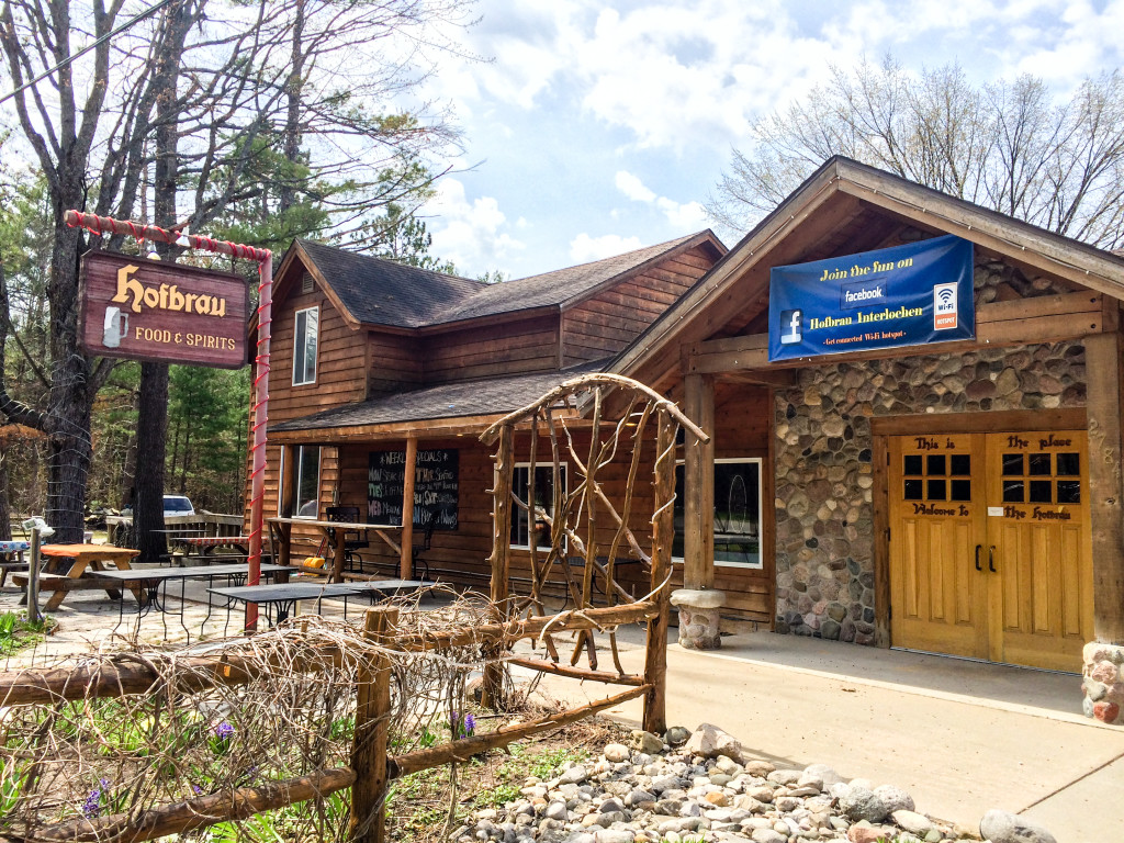 Hofbrau, our brunch destination in Interlochen (Erin Klema/The Epicurean Traveler)
