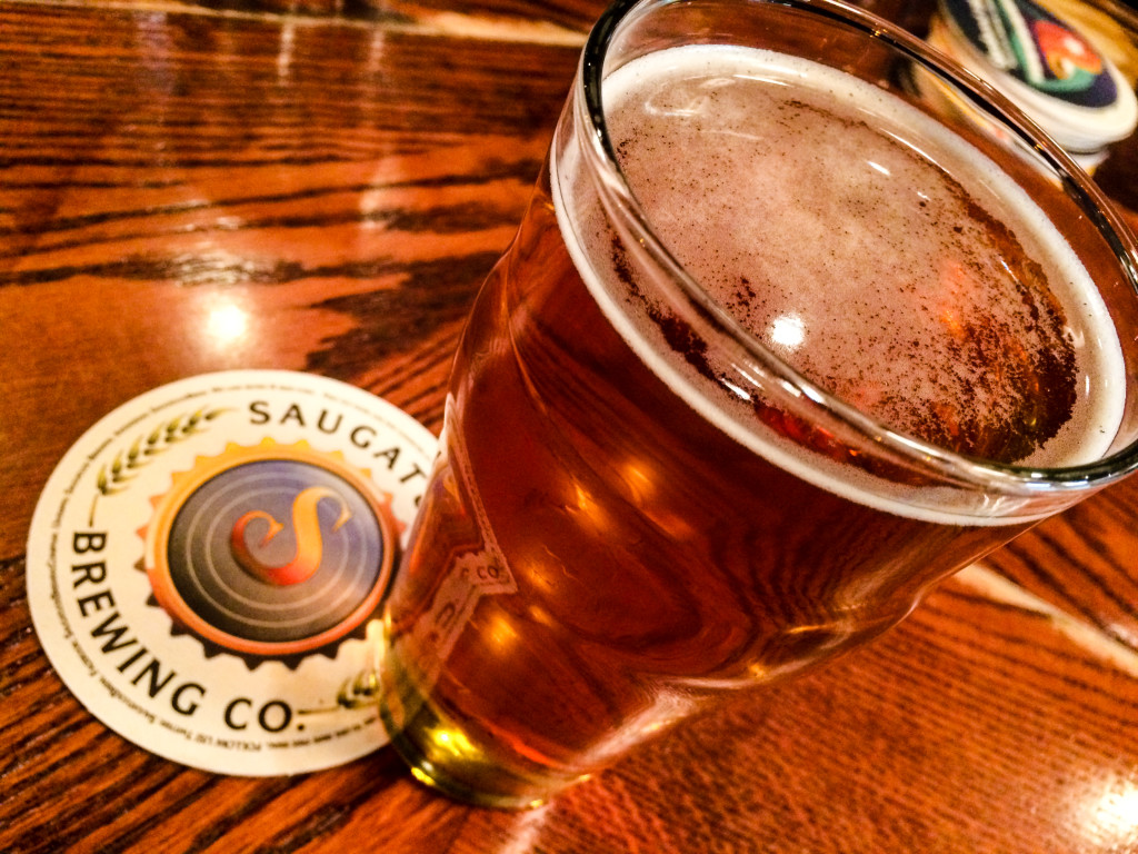 The Oval Beach Blonde craft beer at Saugatuck Brewing Company in Saugatuck, Michigan.