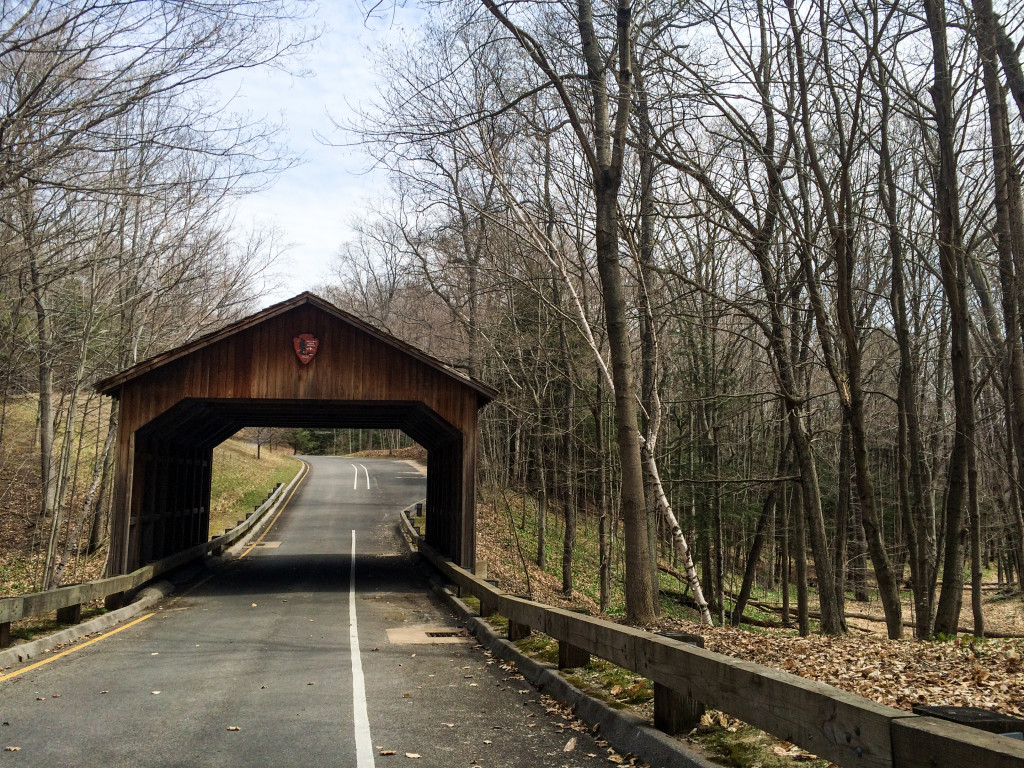 Covered bridge along the Pierce Stocking Scenic Drive (Erin Klema/The Epicurean Traveler)
