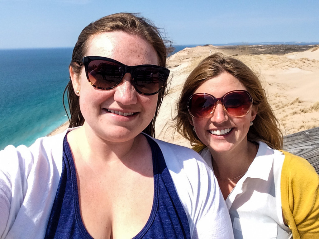 Selfie at the Lake Michigan overlook! (Erin Klema/The Epicurean Traveler)