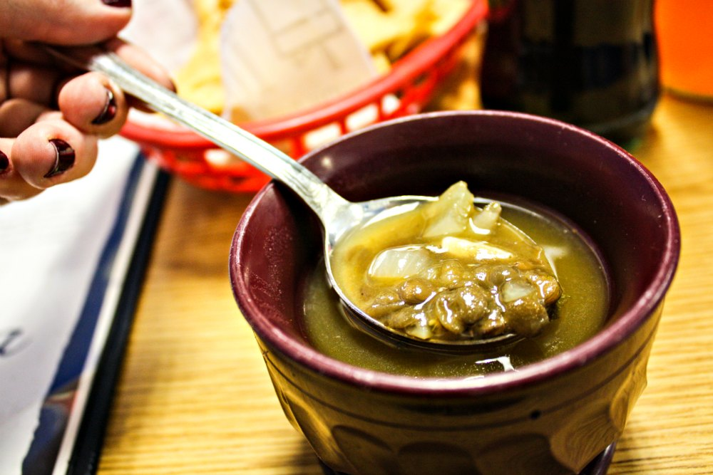 Pupuseria El Salvador's lentil soup | The Epicurean Traveler