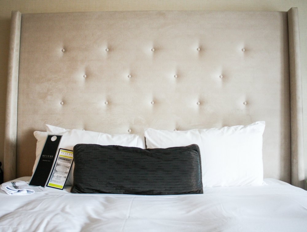 King-size bed at Revere Hotel Boston Common