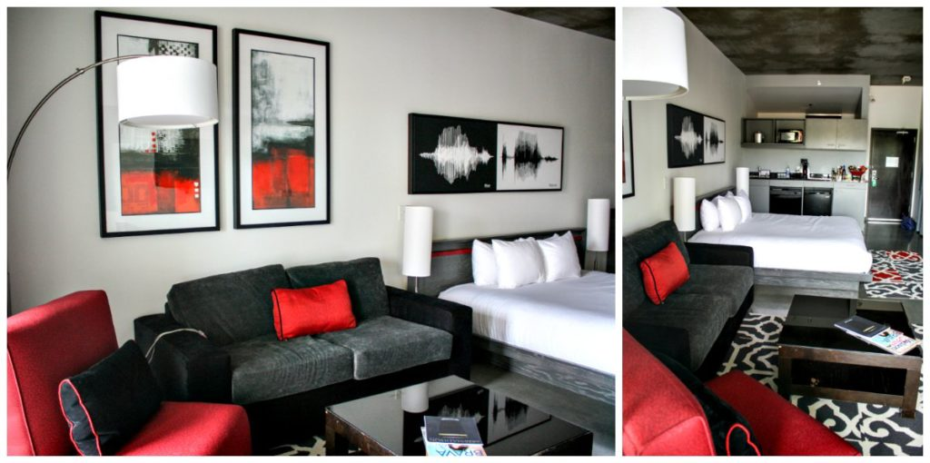 HotelRED studio suite in Madison, Wisconsin