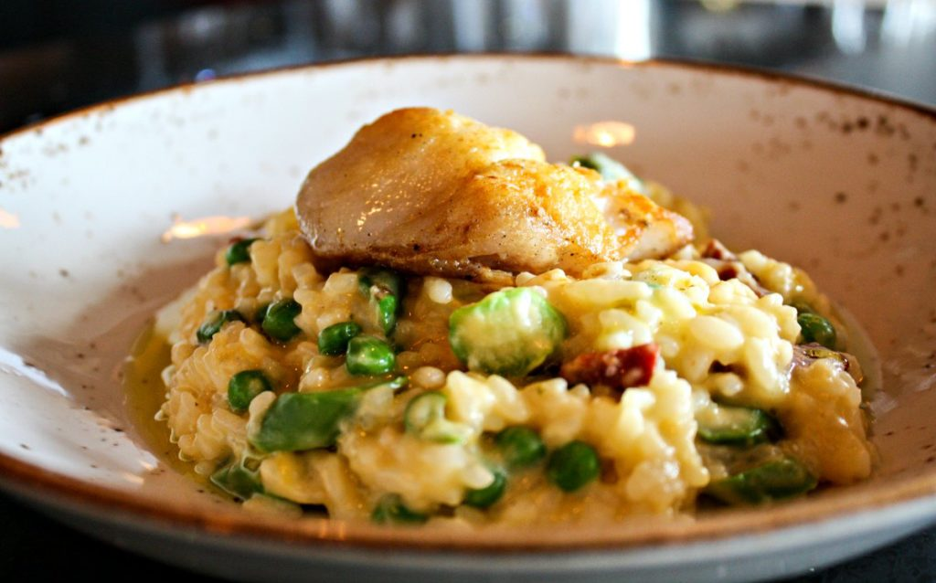 Risotto at The Wise in Madison, Wisconsin