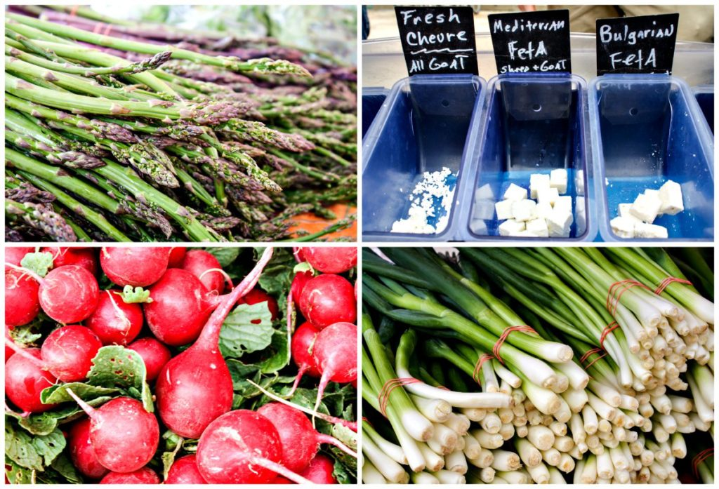 Fresh produce and goat cheese at the Dane County Farmers' Market in Madison, Wisconsin (Erin Klema/The Epicurean Traveler)