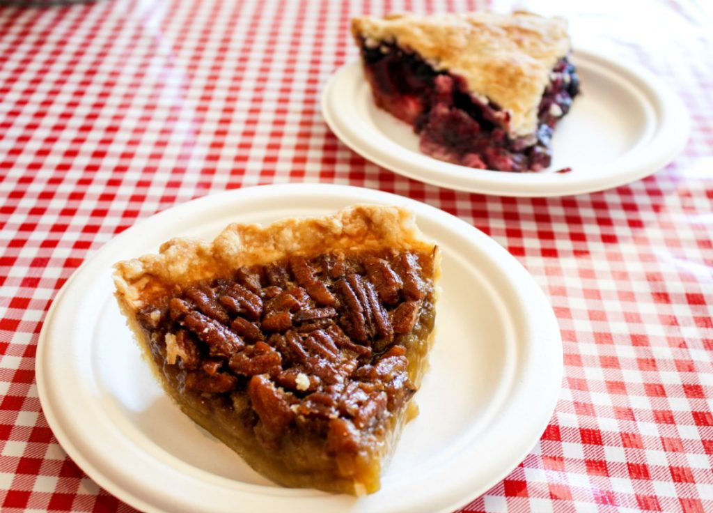 Pecan and triple berry pies at Stockholm Pie & General Store in Stockholm, Wis., along the Great River Road (Erin Klema/The Epicurean Traveler)
