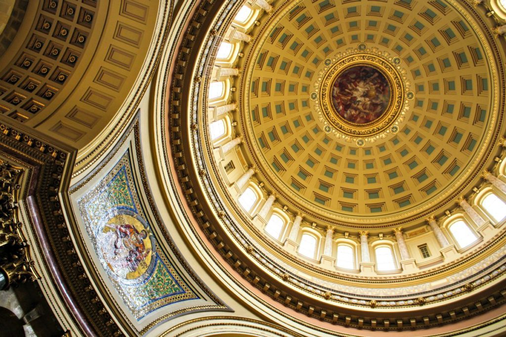 Madison visitors can take free guided tours of the Wisconsin Capitol. (Erin Klema/The Epicurean Traveler)