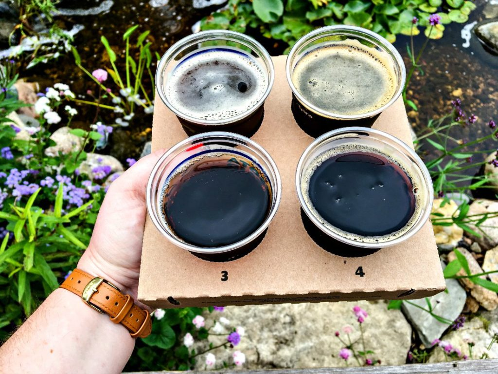 Minnesota State Fair Beer: Dark Beer Flight from Minnesota Craft Breweries Guild breweries.