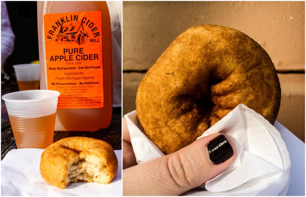 Fresh apple cider and doughnuts are a Michigan fall tradition at Franklin Cider Mill in Metro Detroit's Bloomfield Township. (Erin Klema/The Epicurean Traveler)