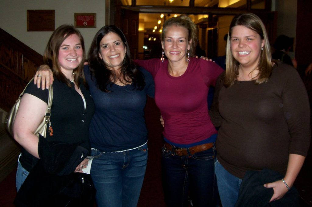 Hanging out with comedians Marla Schultz, Chelsea Handler, and my best friend/college roomie Amanda in March 2007 at CMU's Plachta Auditorium. Coolest moment of my journalism career: Interviewing Chelsea by phone to plug this show in the award-winning student newspaper, Central Michigan Life.