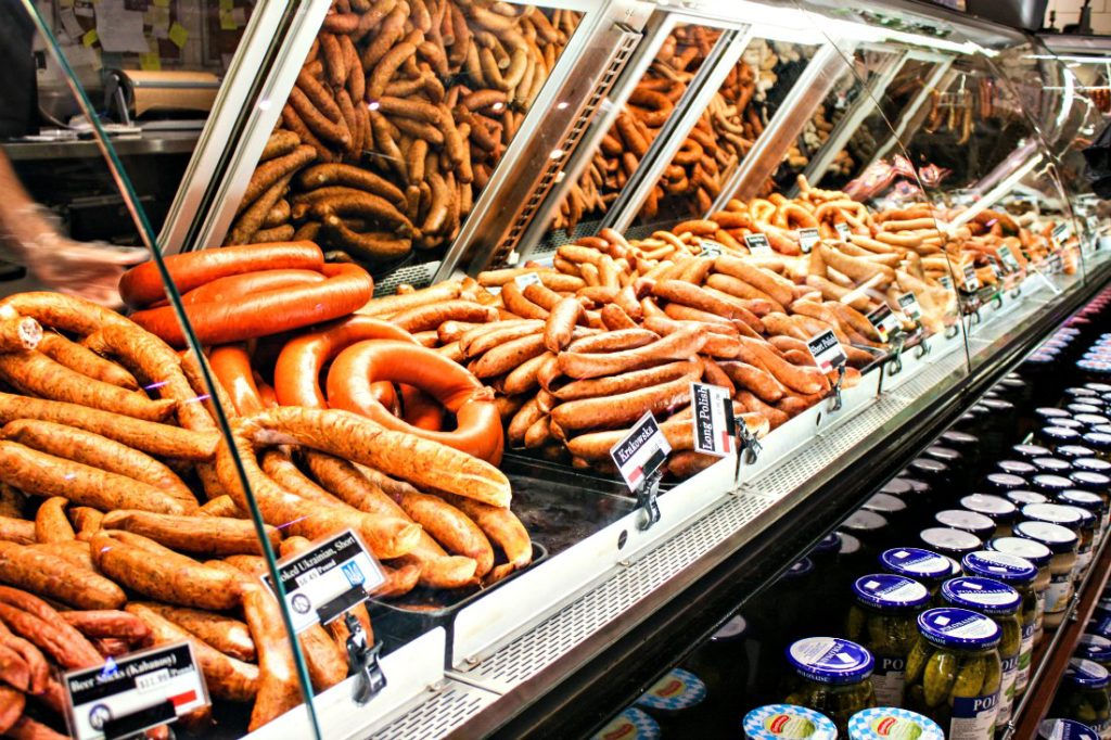 Look at all that sausage at Kramarczuk's! (Erin Klema/The Epicurean Traveler)
