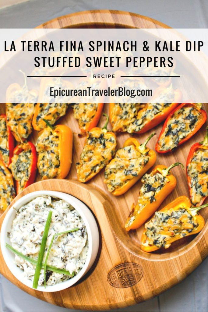 Recipe: La Terra Fina Spinach and Kale Dip Stuffed Sweet Peppers | EpicureanTravelerBlog.com