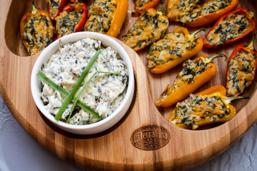 La Terra Fina Spinach & Kale Dip Stuffed Sweet Peppers
