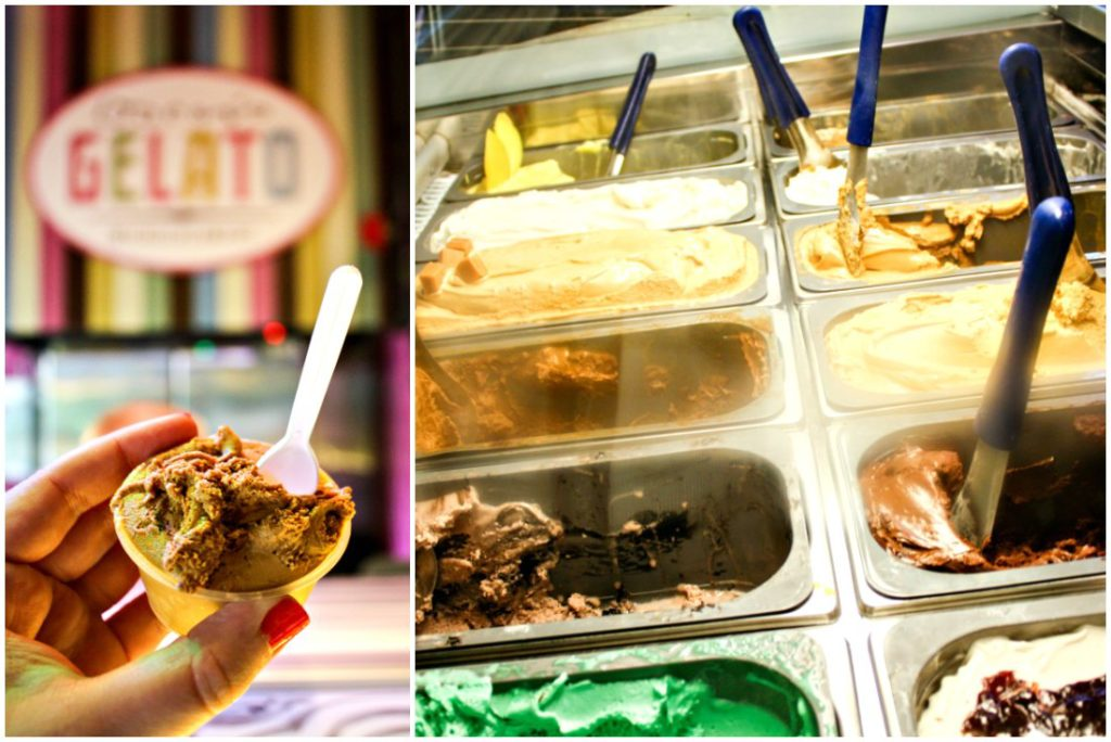 Creamy gelato in a variety of flavors from Oscar's Gelato Micro-Creamery at Wilde Cafe.