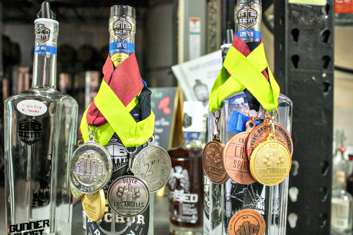Award-winning spirits from Bent Brewstillery in Roseville, Minnesota