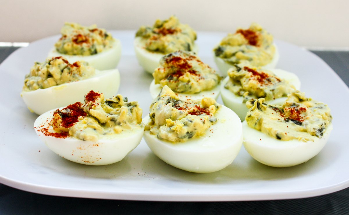 Spinach & Parmesan Deviled Eggs