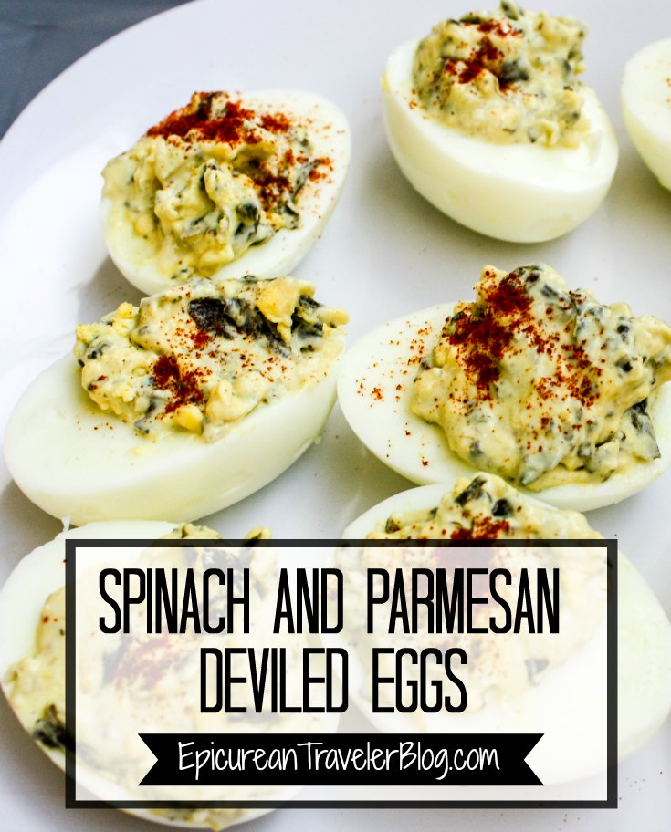 These Deviled Eggs made with La Terra Fina Spinach & Parmesan Dip are great for effortless entertaining. Get the recipe today at EpicureanTravelerBlog.com.