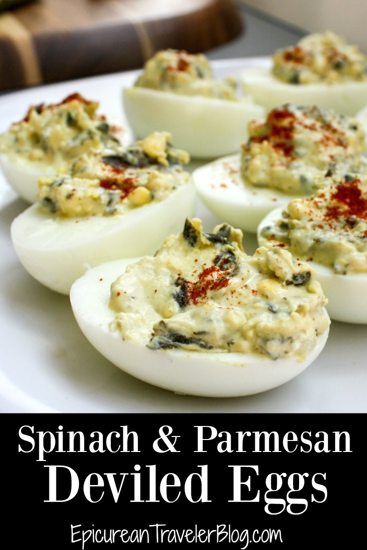 These Spinach & Parmesan Deviled Eggs made with La Terra Fina Spinach & Parmesan dip is an easy-to-make appetizer that will impress your guests. Get the recipe today on EpicureanTravelerBlog.com.