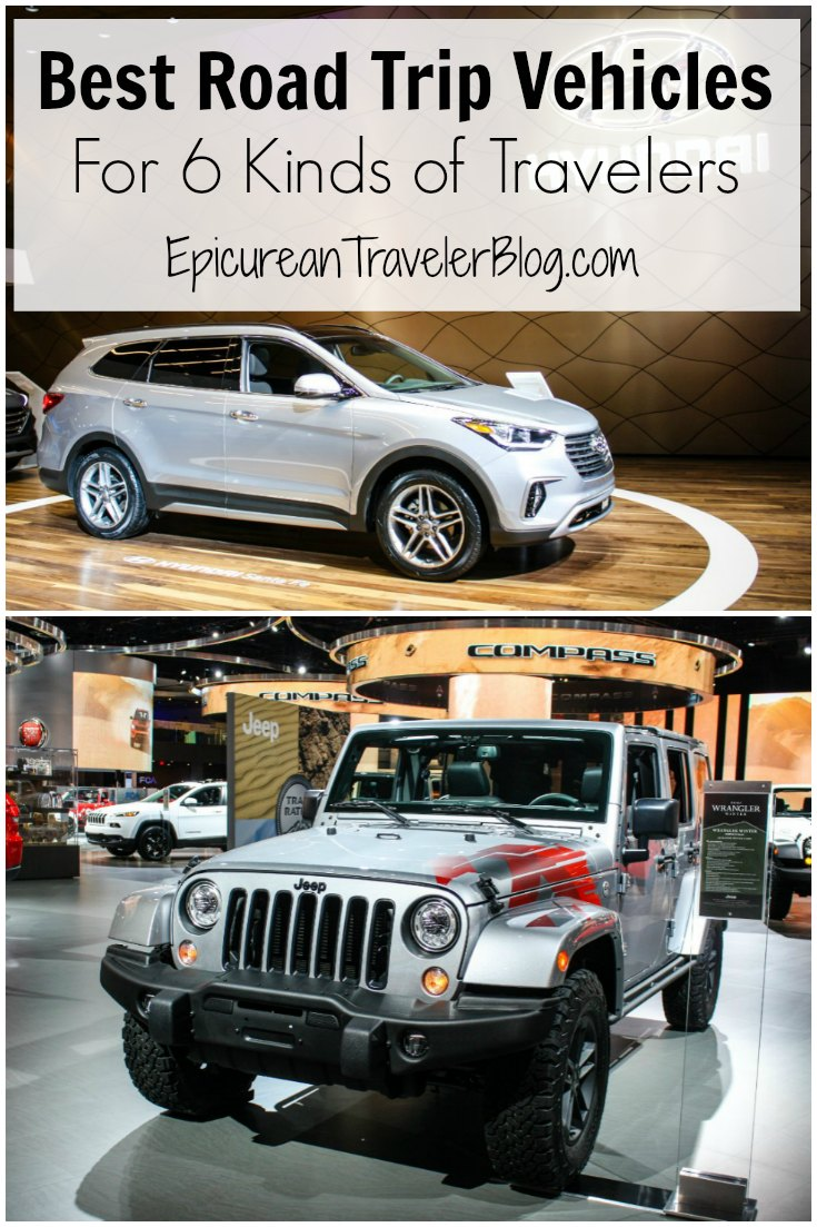 Great road-trip vehicles for six types of travelers including luxury jetsetters and adventure seekers. See the list now on EpicureanTravlerBlog.com!