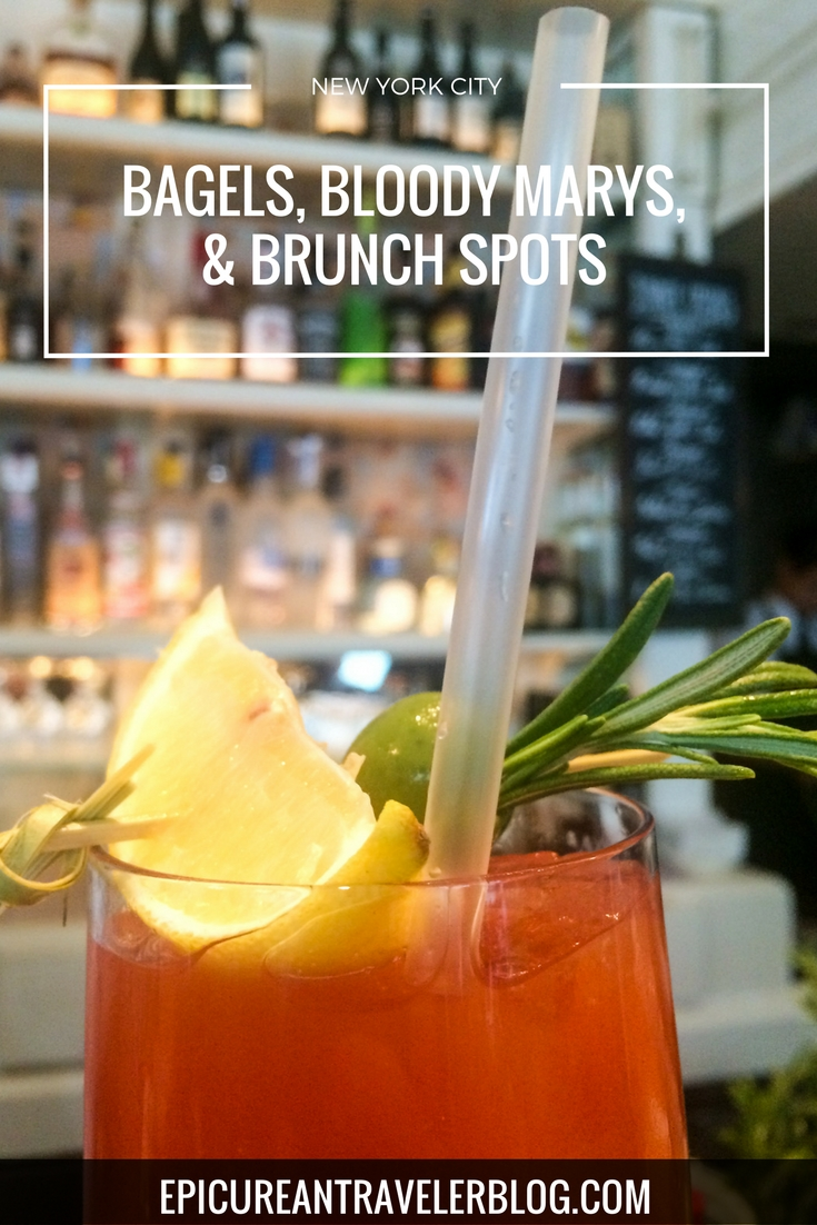 Where to eat bagels, drink bloody marys, and go to brunch in New York City! | EpicureanTravelerBlog.com