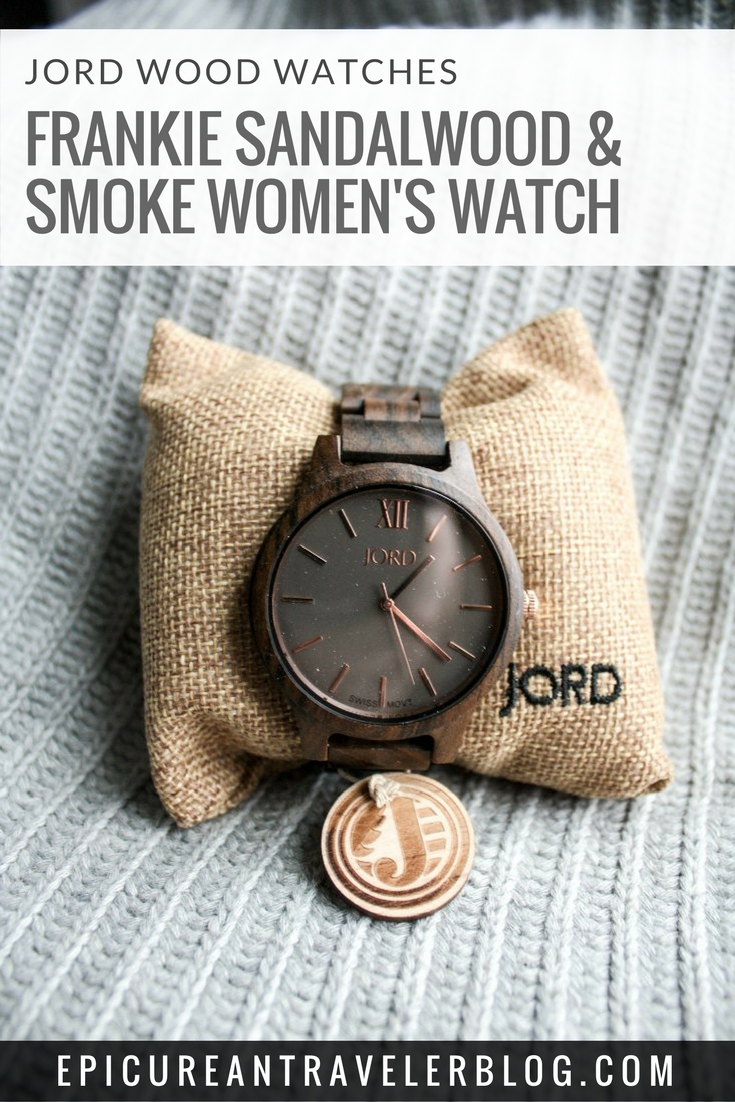 JORD Frankie Sandalwood & Smoke Watch is the perfect accessory of cozy and chic winter style! | EpicureanTravelerBlog.com