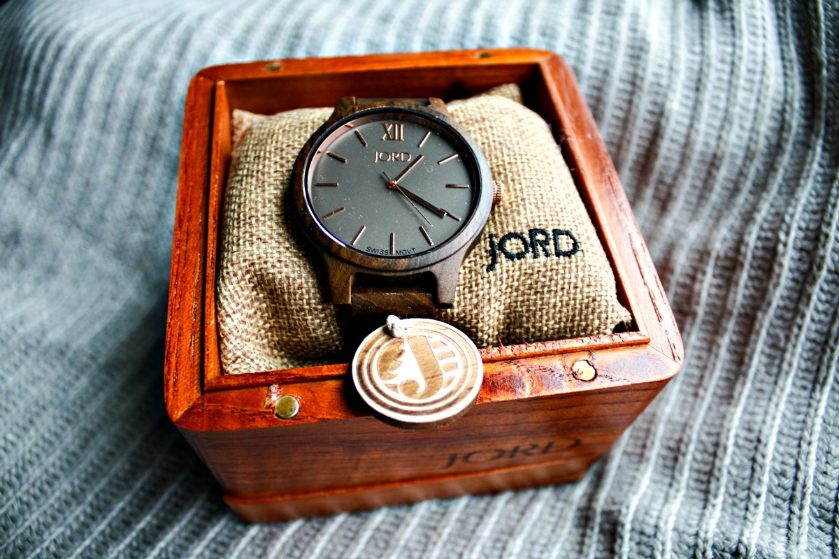 JORD Frankie Dark Sandalwood & Smoke Watch from JORD Wood Watches | EpicureanTravelerBlog.com