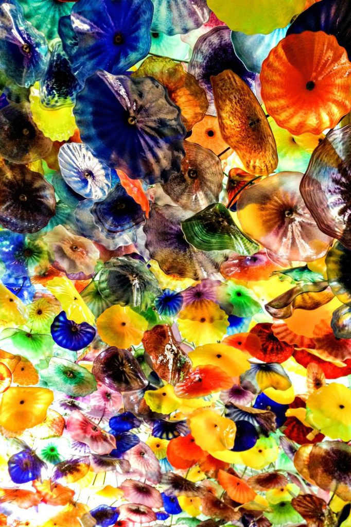 See the Bellagio's glass flower ceiling in Las Vegas | EpicureanTravelerBlog.com
