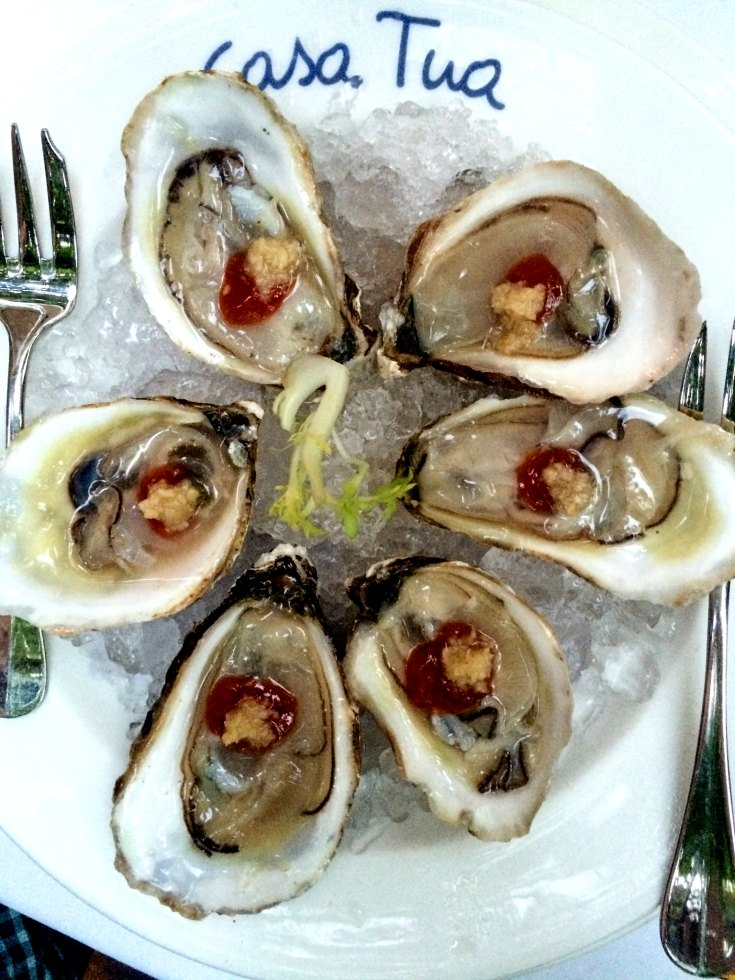 Oysters at Casa Tua Restaurant in Miami Beach, Florida | EpicureanTravelerBlog.com