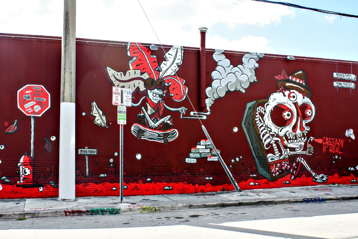 Brooklyn-based artist Sheryo, originally from Singapore, created this artwork found outside the Wynwood Walls. | EpicureanTravelerBlog.com