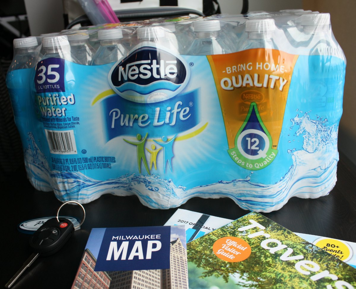 Nestle Pure Life water bottles are essential for road trips! | EpicureanTravelerBlog.com