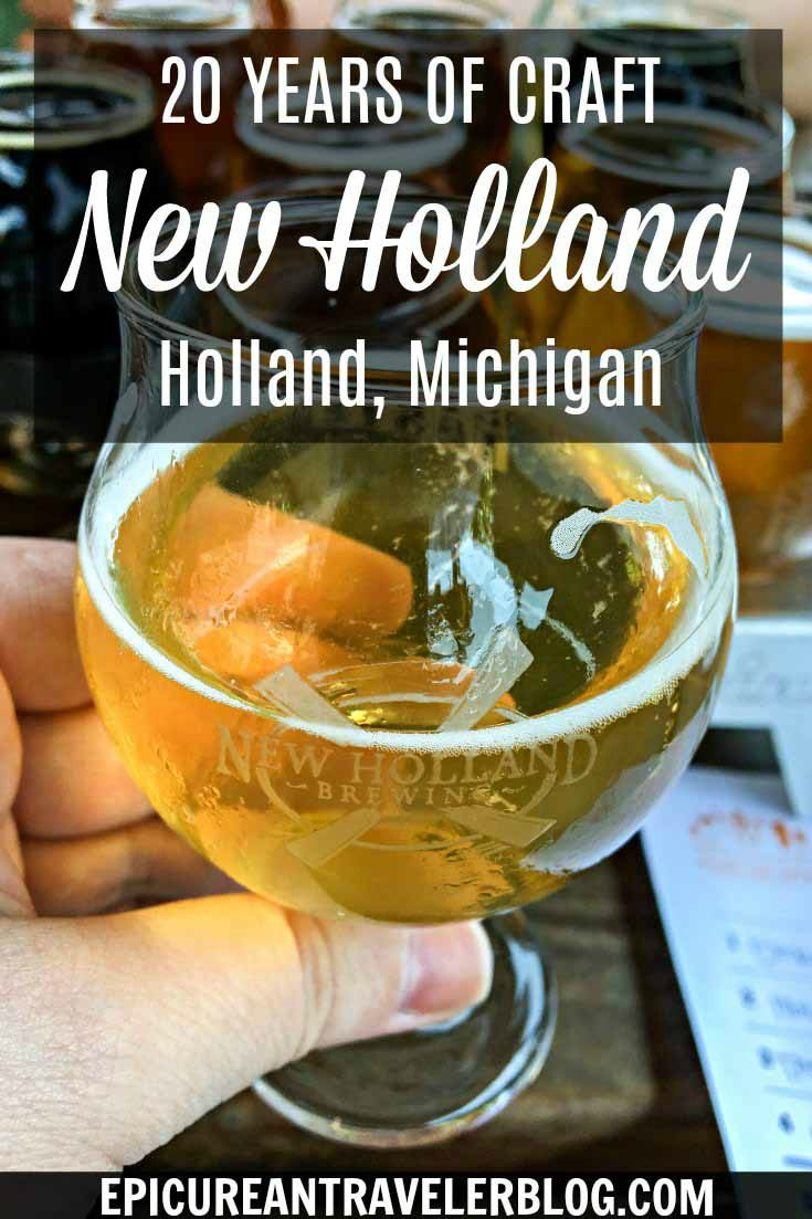Visiting Holland, Michigan? Stop by the New Holland Pub on 8th for lunch or dinner in the family-friendly tavern, a New Holland Brewing beer flight, or tasting New Holland Artisanal Spirits at Sidecar. The West Michigan brewery celebrates its 20th anniversary in June 2017! Get your culinary travel tips today at EpicureanTravelerBlog.com!