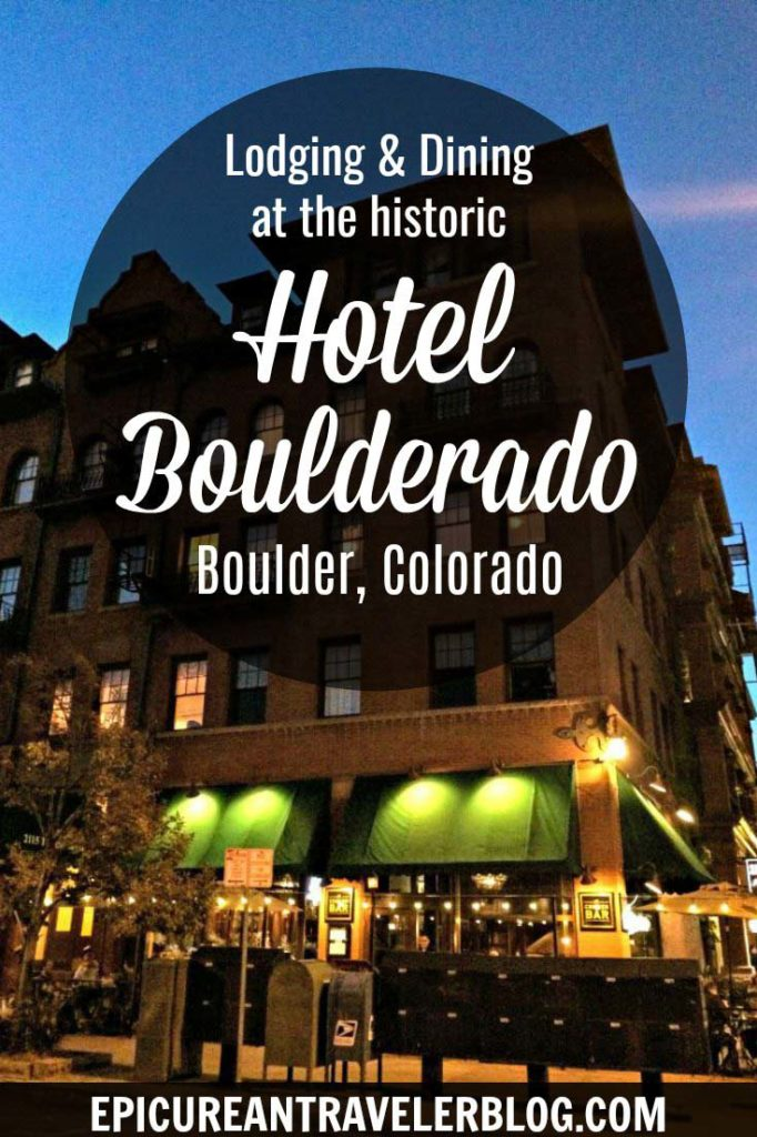 Visiting Boulder, Colorado? Consider staying or dining at the historic Hotel Boulderado in downtown Boulder. The hotel houses upscale restaurant Spruce Farm & Fish, pub The Corner Bar, and Prohibition-style speakeasy License No. 1. Get your Colorado travel tips today at EpicureanTravelerBlog.com!