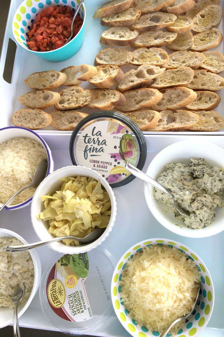 Build-Your-Own Crostini with La Terra Fina dips!