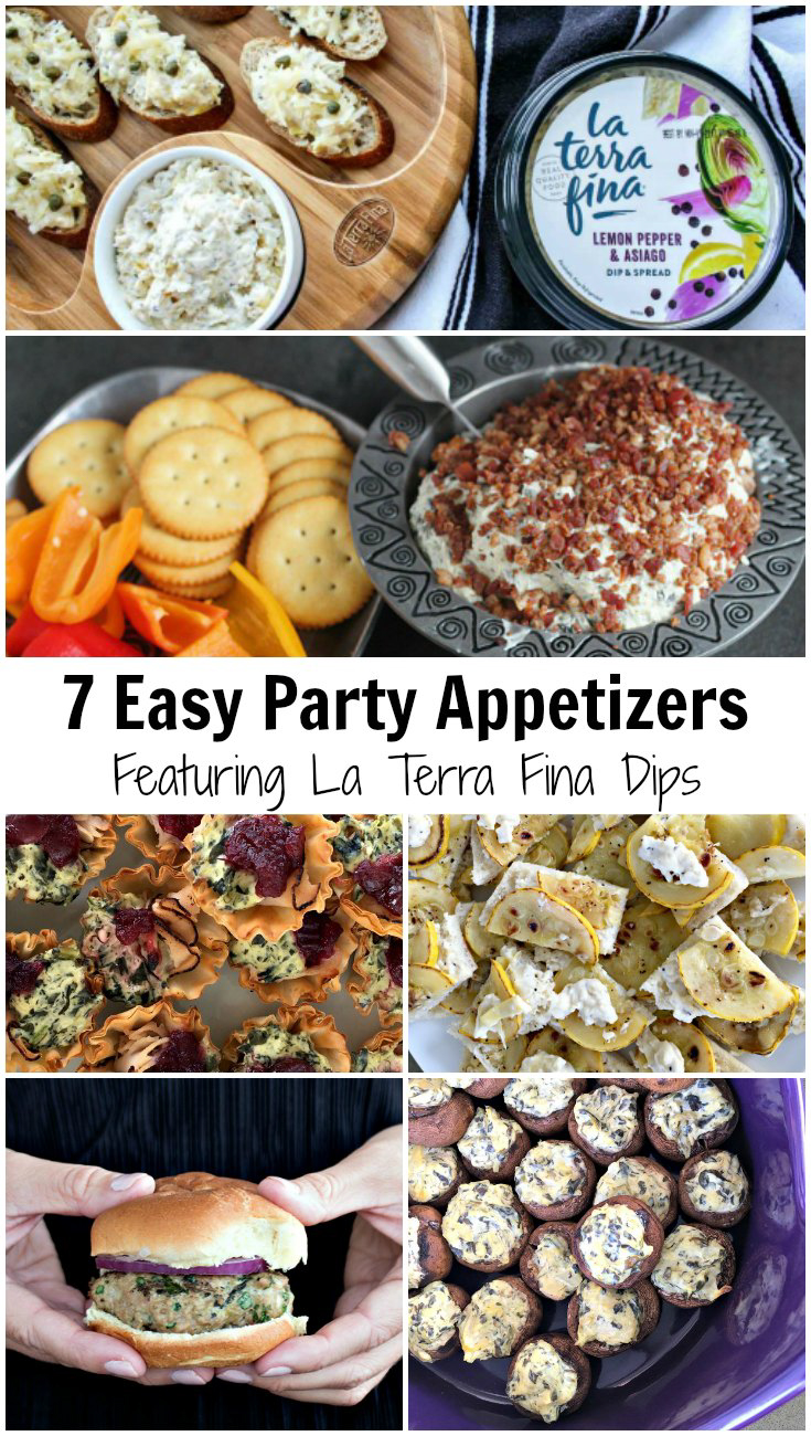 Planning a party? Get 7 recipes for easy and tasty party appetizers featuring La Terra Fina dips & spreads. #sponsored by La Terra Fina | Get your recipes today at EpicureanTravelerBlog.com!
