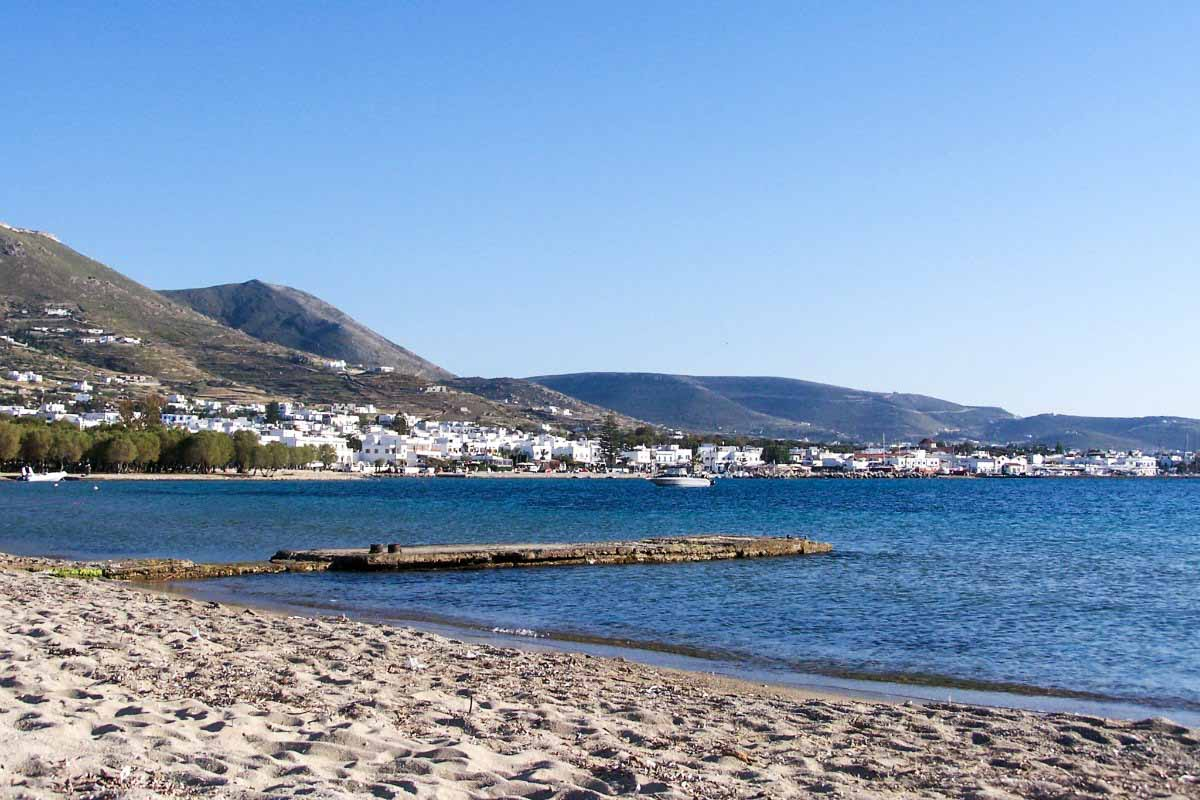 One of the beaches on Paros