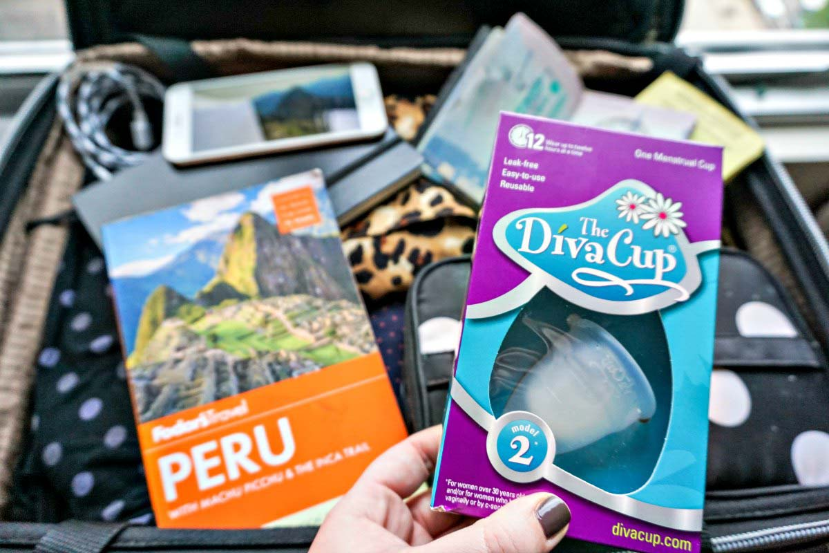 The DivaCup is a must-have travel essential for female travelers visiting Peru.