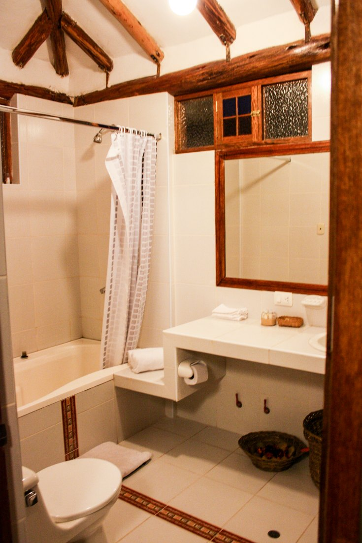 Bathroom of a hotel room in Sacred Valley of Peru