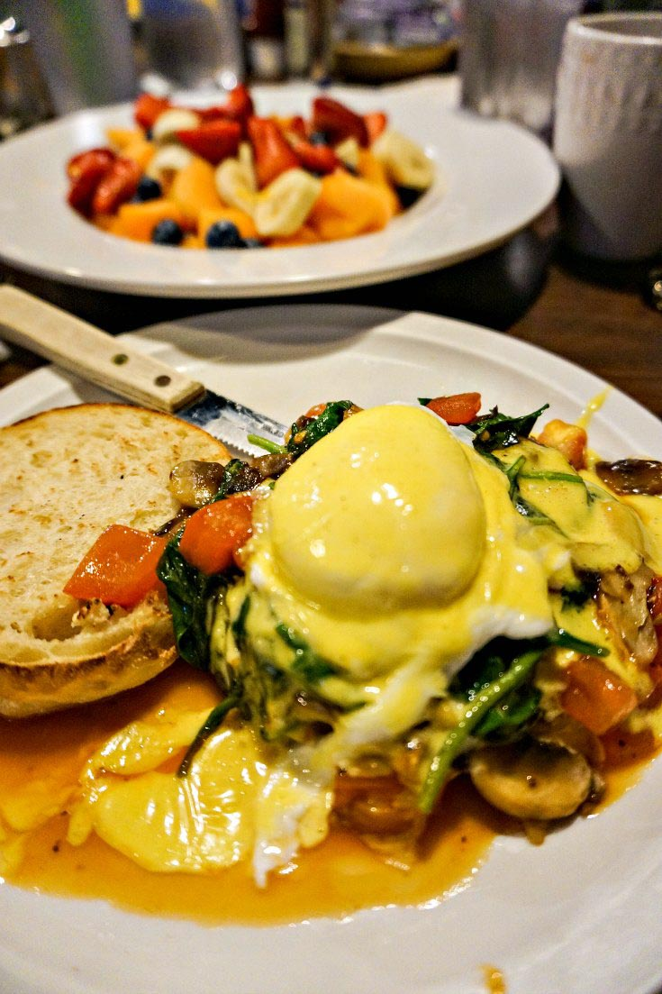 Eggs Benedict at Wolfgang's Restaurant in Grand Rapids, Michigan