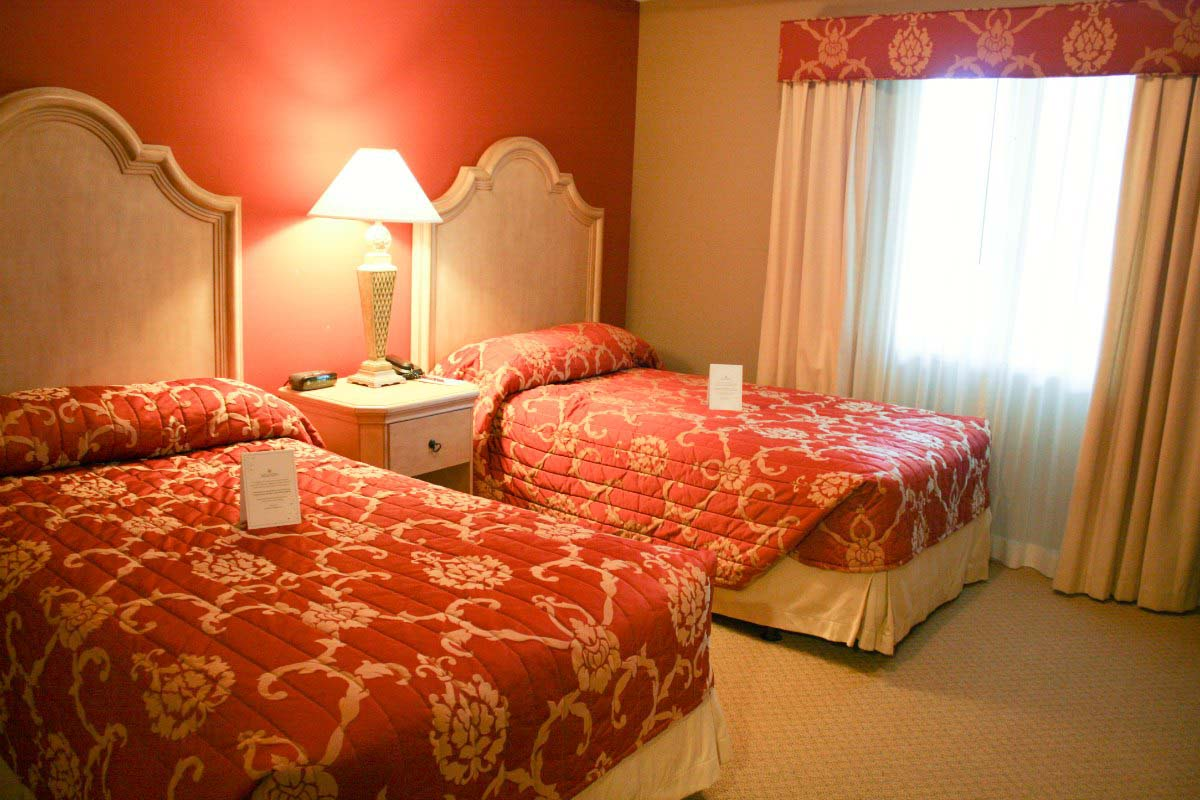 The double twin bedroom in the two-bedroom suite of Bellasera Resort in Naples, Florida