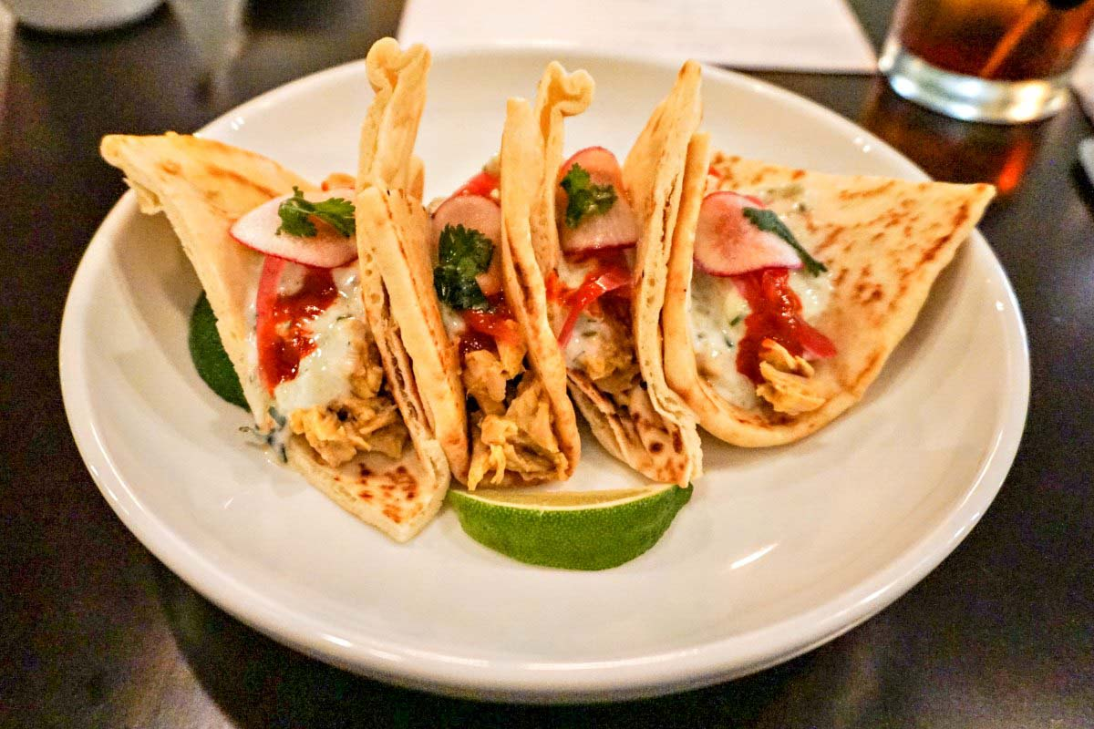 Tikka Tacos at Lark, an upscale restaurant in Janesville, Wisconsin