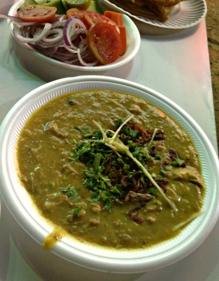 Haleem, a Pakistani dish with shredded chicken typically made for special occasions