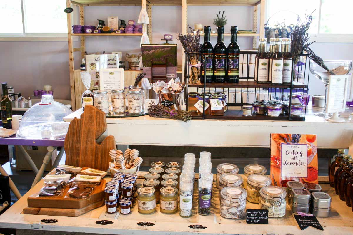 Lavender Hill Farm Gift Shop in Boyne City, Michigan, USA