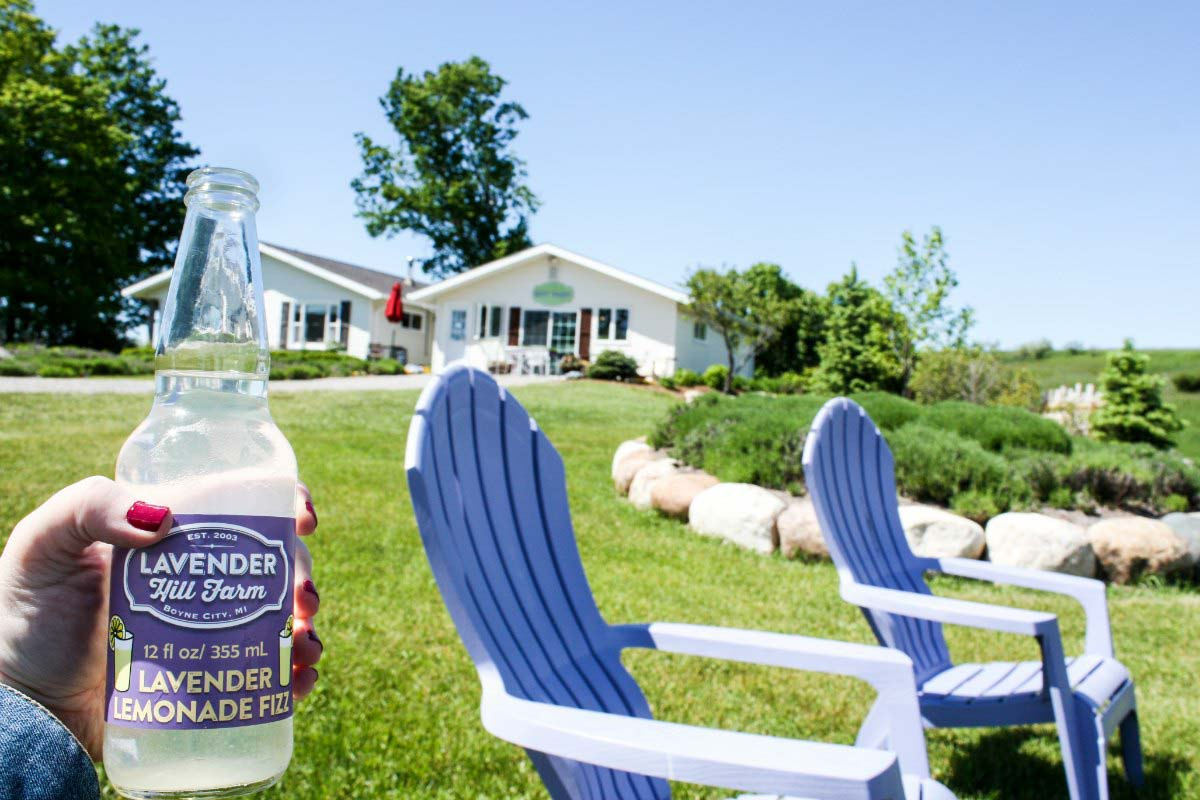 Lavender Hill Farm in Boyne City, Michigan, USA