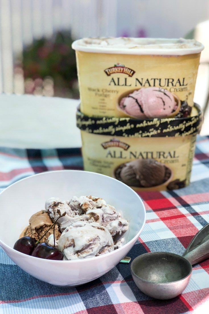 Turkey Hill All Natural Ice Cream in Belgian Chocolate and Black Cherry Fudge