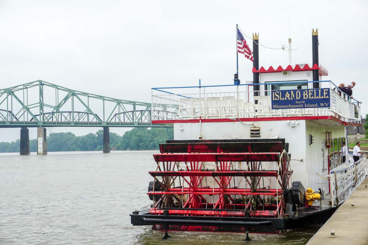 In Parkersburg, West Virginia, you can experience history firsthand by riding on an authentic sternwheeler to Blennerhassett Island State Park. #VisitPKB #Parkersburg #WestVirginia #AlmostHeaven #travel #history