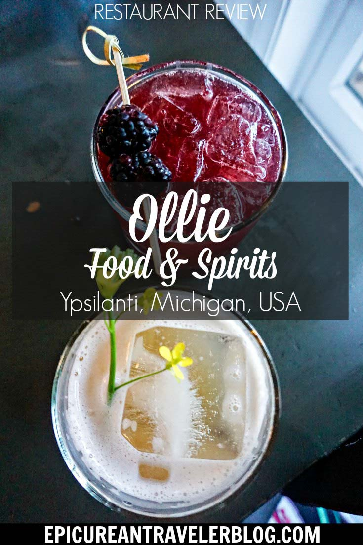 Craft cocktails make the dining experience so special at Ollie Food + Spirits in Ypsilanti, Michigan, USA. #sponsored #YpsiReal #ErinInAnnArbor #ErinInA2