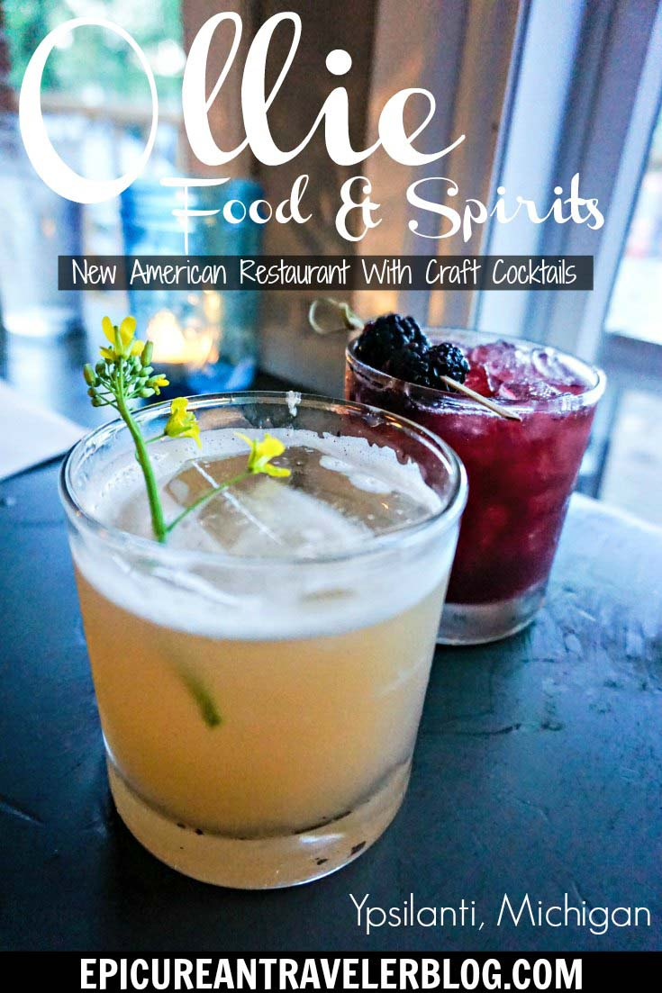 Ollie Food + Spirits is a New American restaurant that serves seasonal dishes made with high-quality, local ingredients and fantastic craft cocktails in Ypsilanti, Michigan, USA. #sponsored #YpsiReal #ErinInAnnArbor #ErinInA2