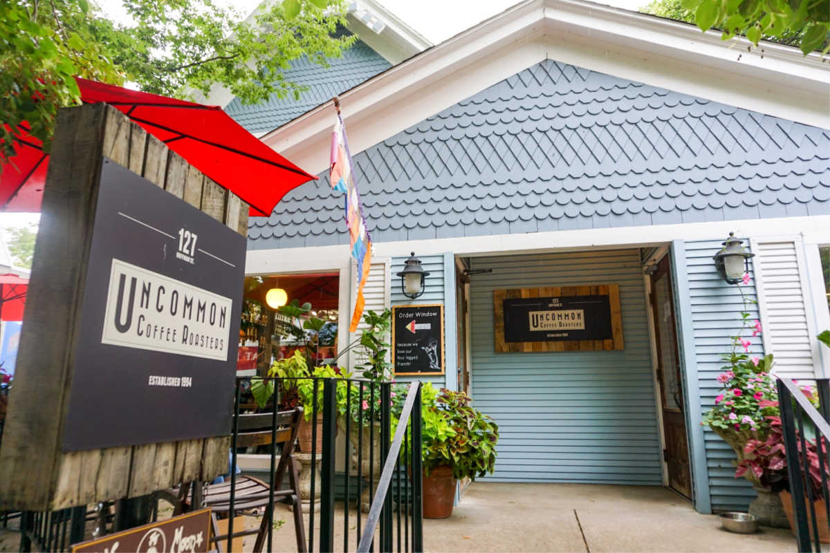Uncommon Coffee Roasters is a local coffee shop in downtown Saugatuck, Michigan, USA.